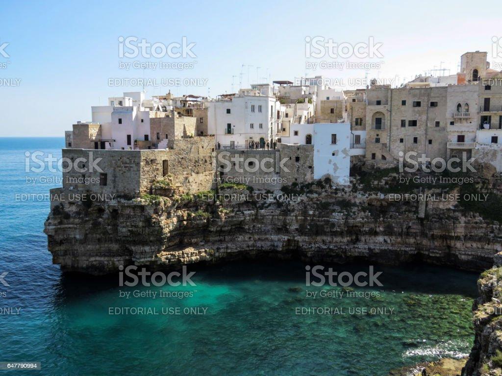 the Rock of Polignano a mare - Puglia - Italy stock photo