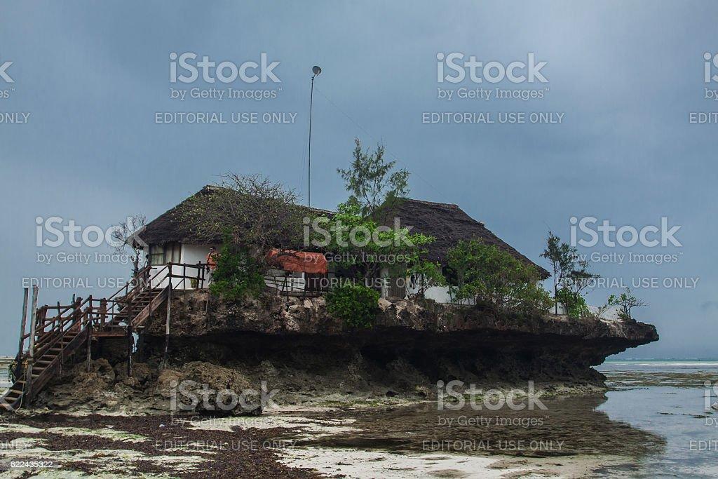 The Rock Restaurant in Zanzibar stock photo