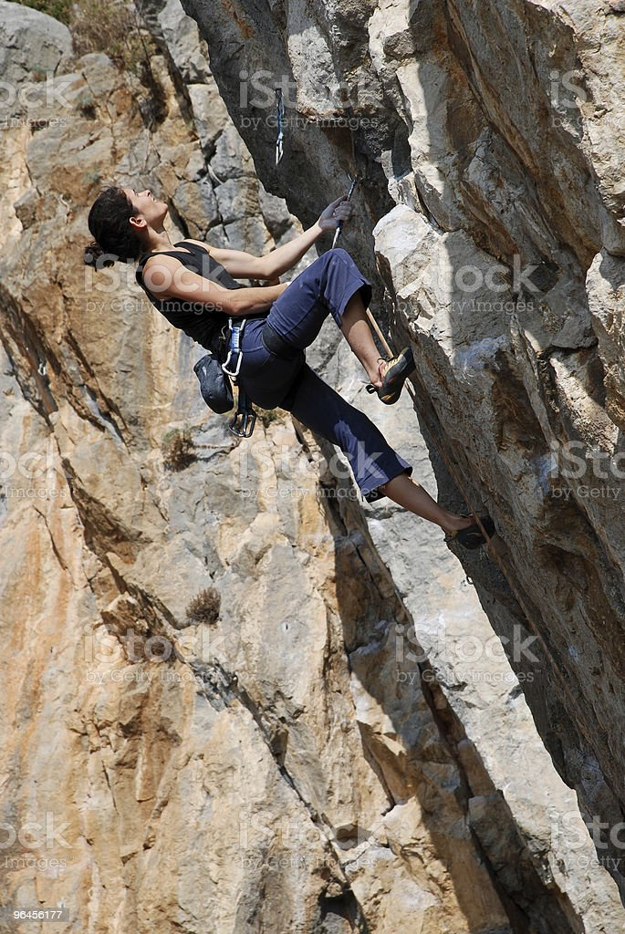 The rock-climber during rock conquest royalty-free stock photo