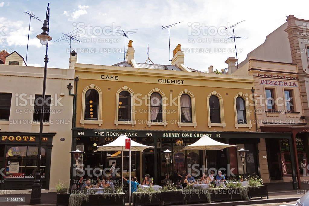 The Rocks Cafe Culture stock photo