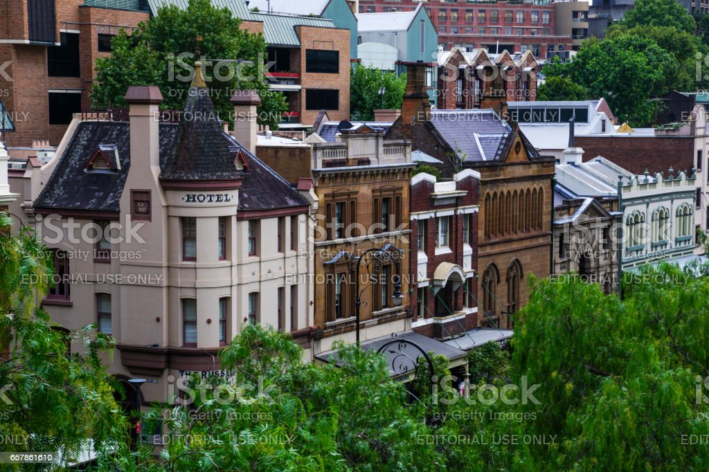 The Rocks in Downtown Sydney Australia stock photo