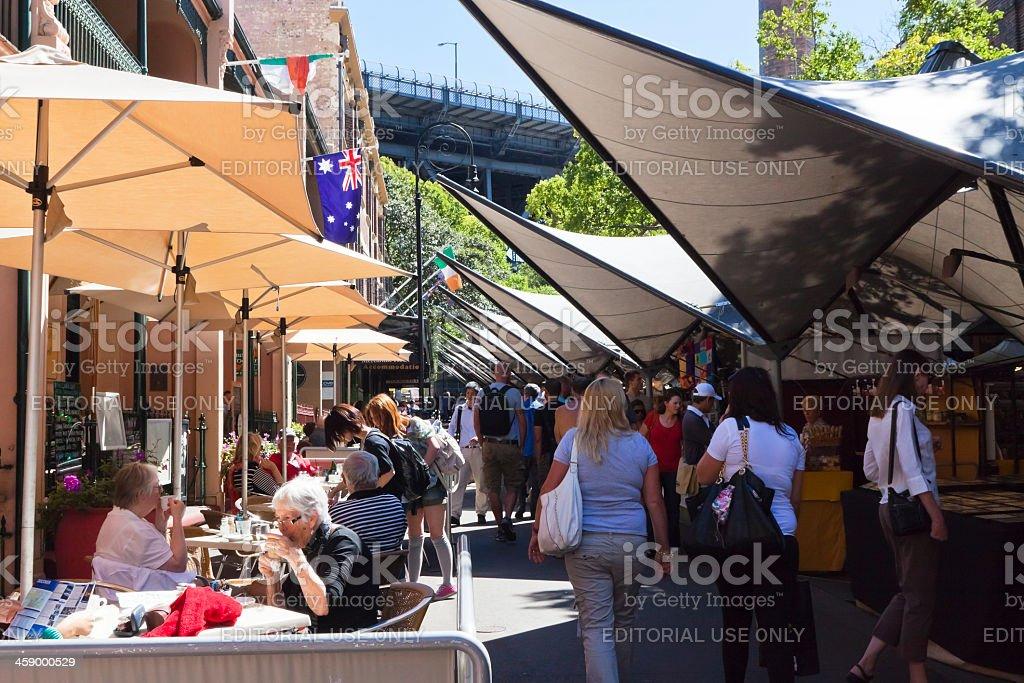 The Rocks market royalty-free stock photo