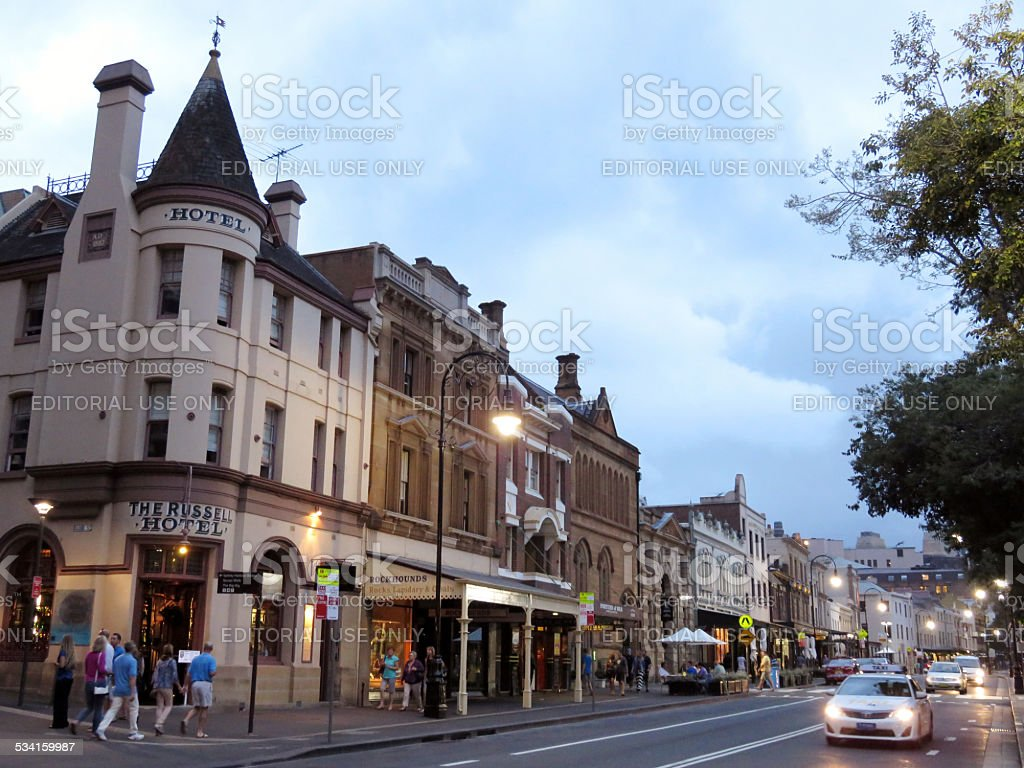 The Rocks Pubs and Nightlife stock photo