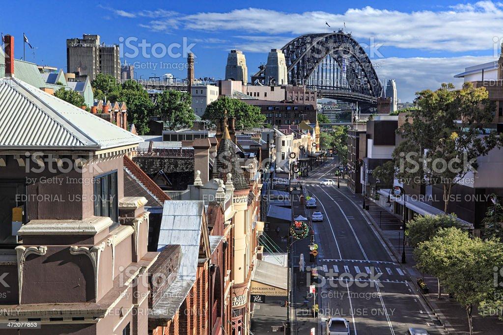 The Rocks Sydney Australia stock photo