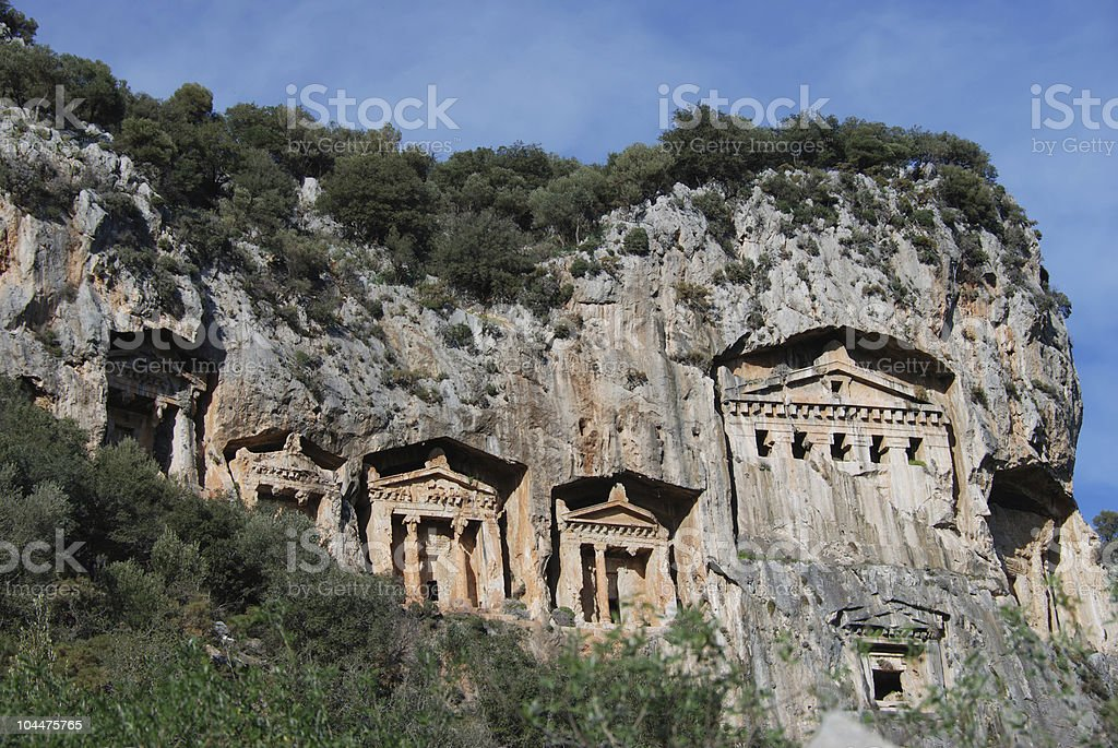 The rock-tombs royalty-free stock photo
