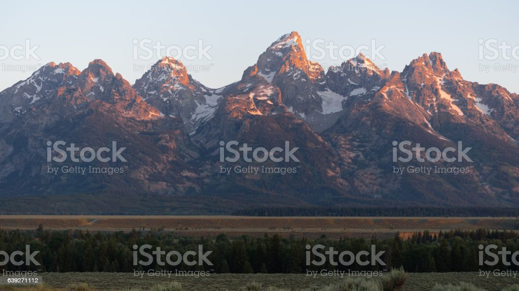 The Rocky Mountains Grand Teton National Park stock photo