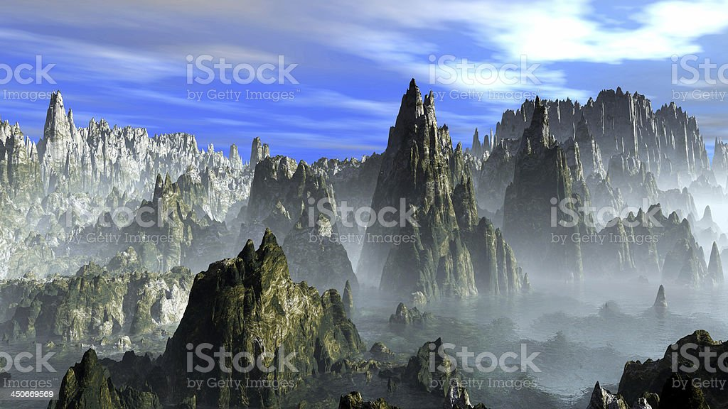The Rocky mountains stock photo