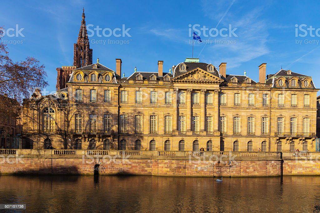 The Rohan palace in Strasbourg. Alsace, France. stock photo