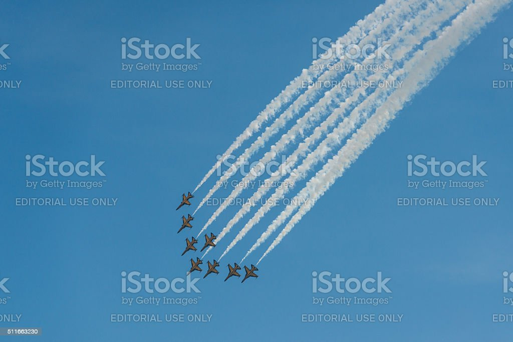 The ROKAF Black Eagles air show stock photo