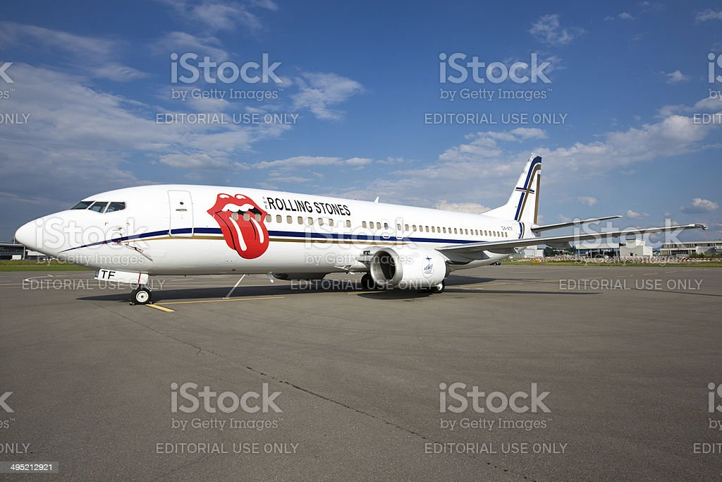 The Rolling Stones Private Jet stock photo