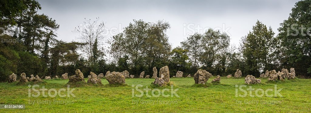 The Rollright Stones royalty-free stock photo