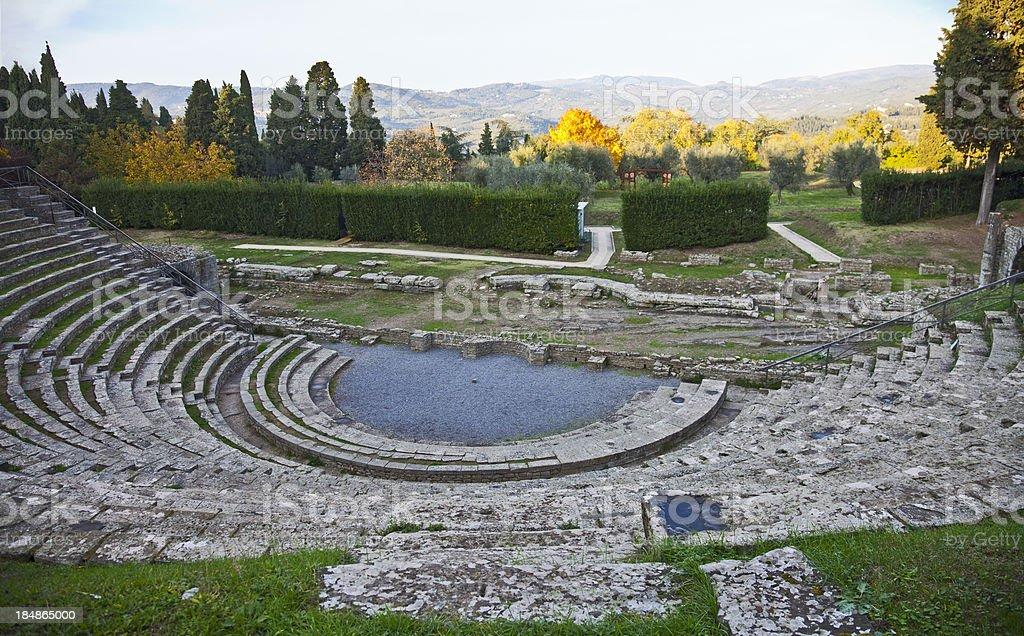 The Roman amphitheatre at Fiesole stock photo