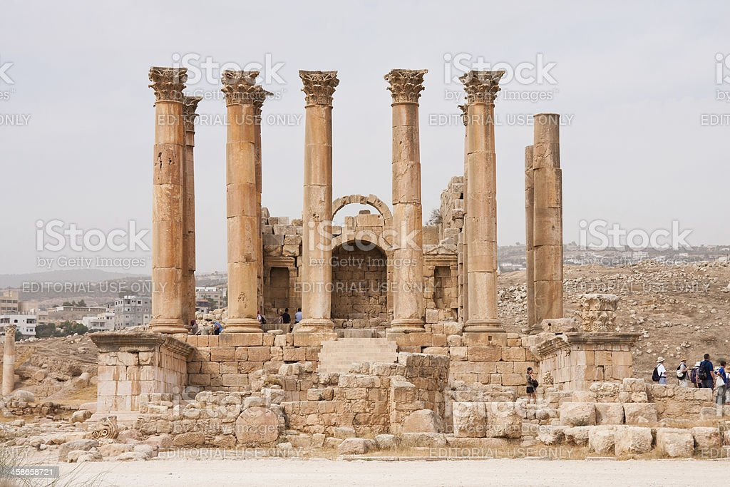 The Roman city of Gerasa in Jerash, Jordan stock photo