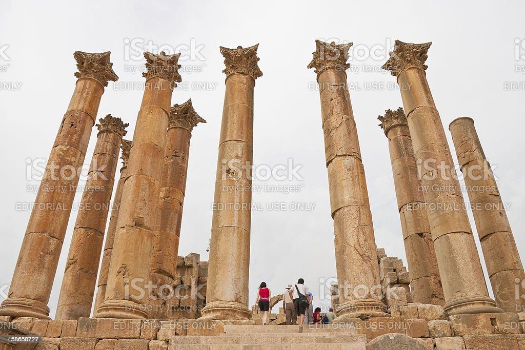 The Roman city of Gerasa in Jerash, Jordan royalty-free stock photo