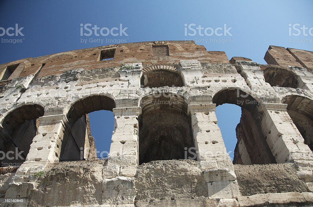 The Roman Colosseum royalty-free stock photo