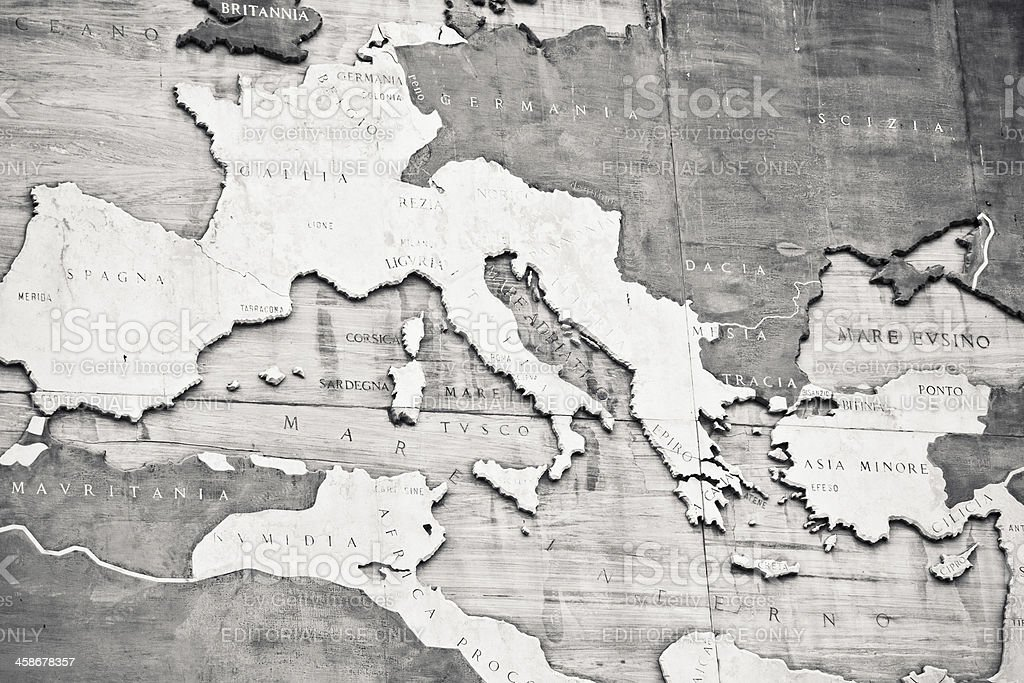 The Roman Empire Map royalty-free stock photo