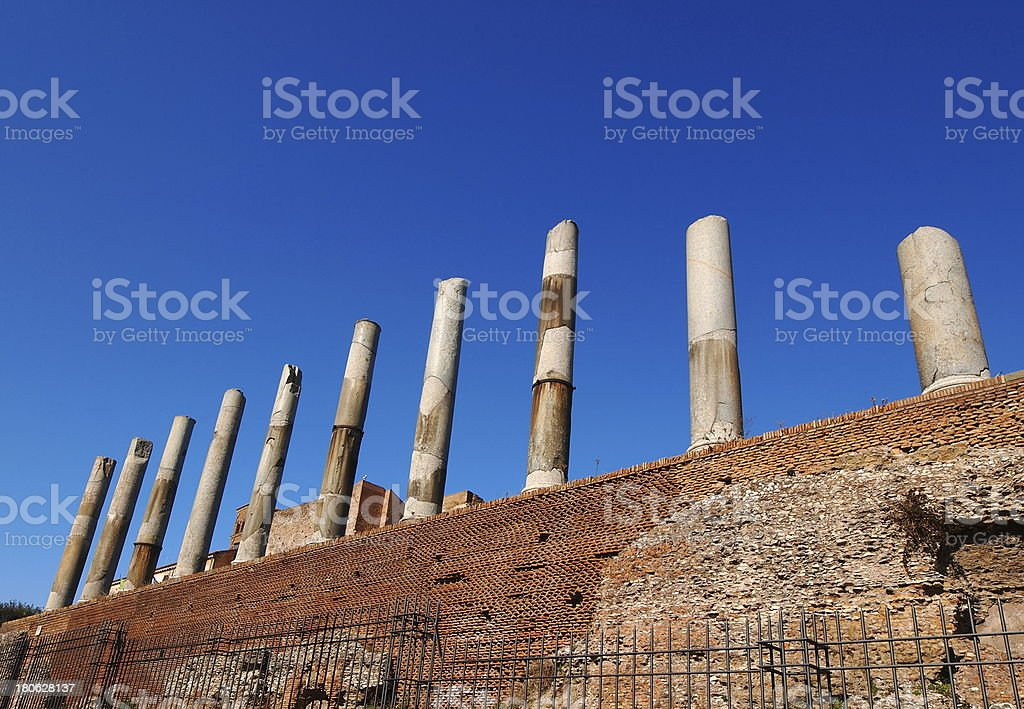 The Roman Forum in Rome royalty-free stock photo
