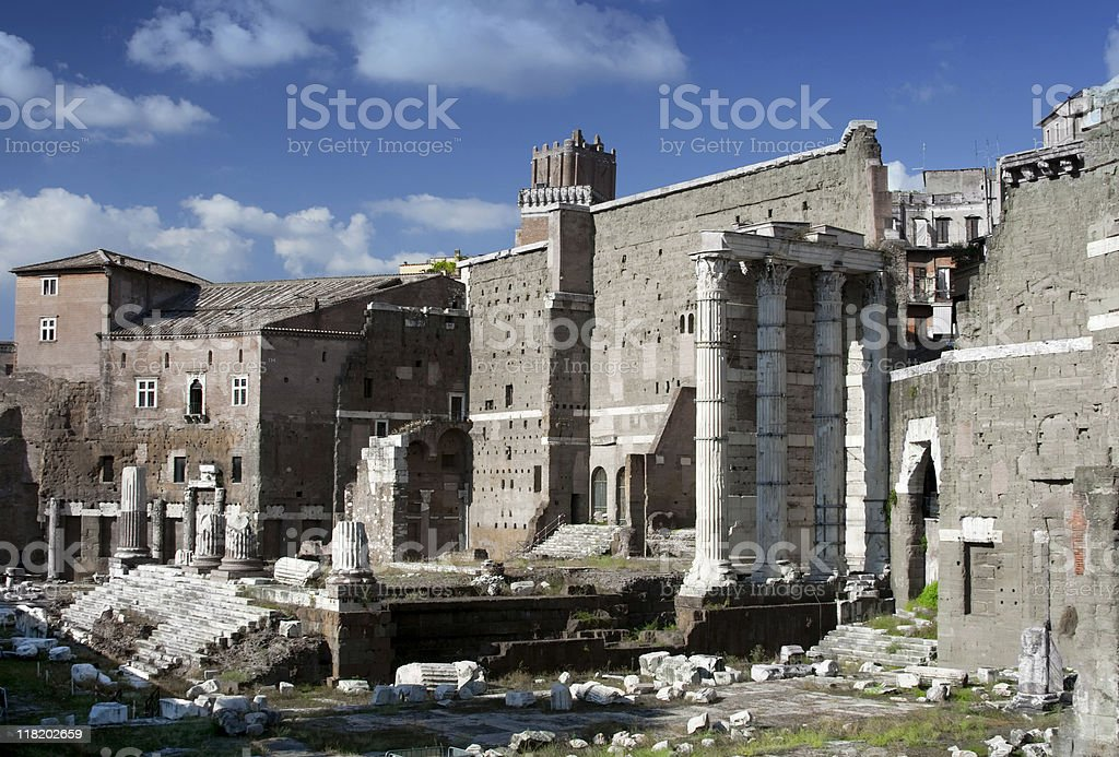 The Roman Forum royalty-free stock photo