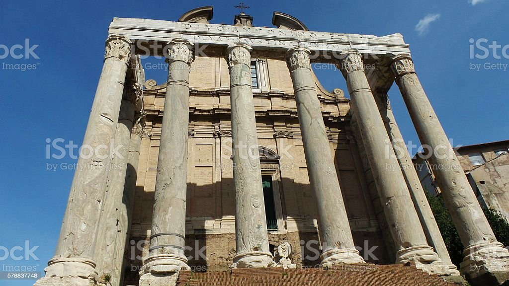 The Roman Forum stock photo