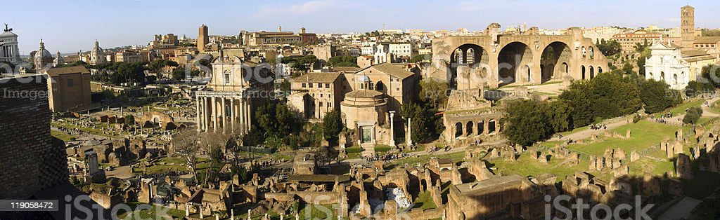 The Roman Forum, Rome royalty-free stock photo