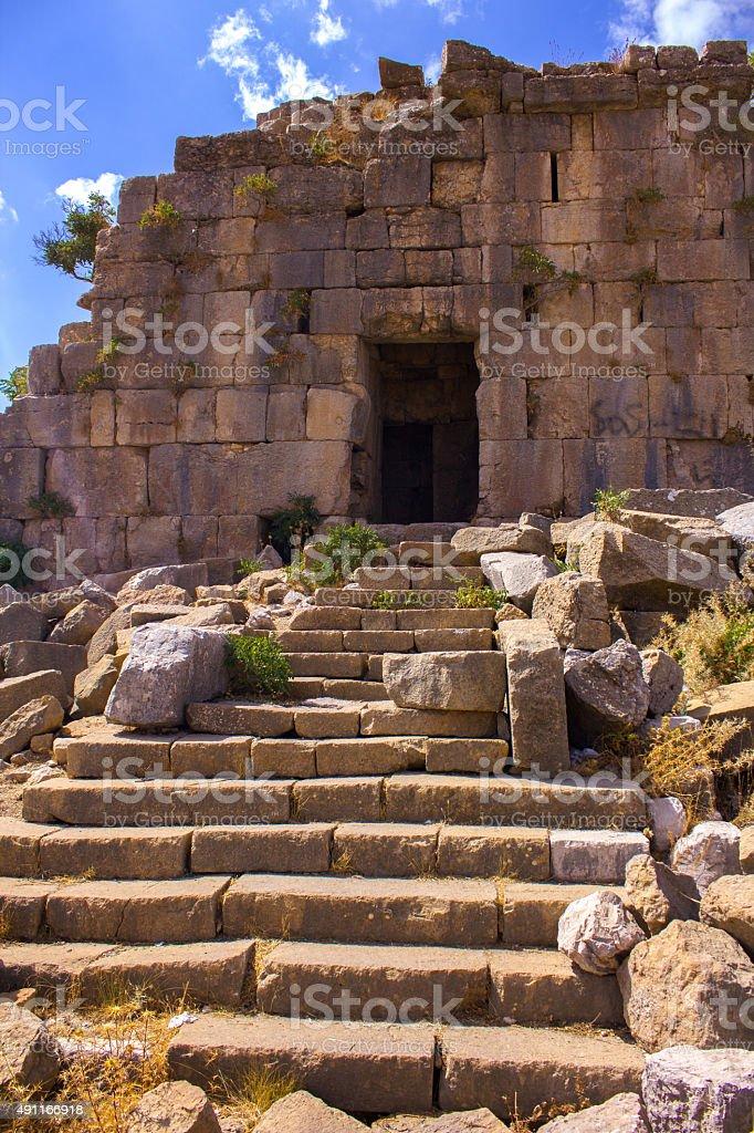 The Roman Ruins at Faqra, Lebanon, Middle East stock photo