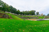 The roman theater remains in Autun