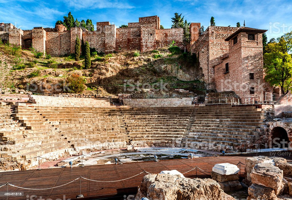 The Roman Theatre in Malaga stock photo