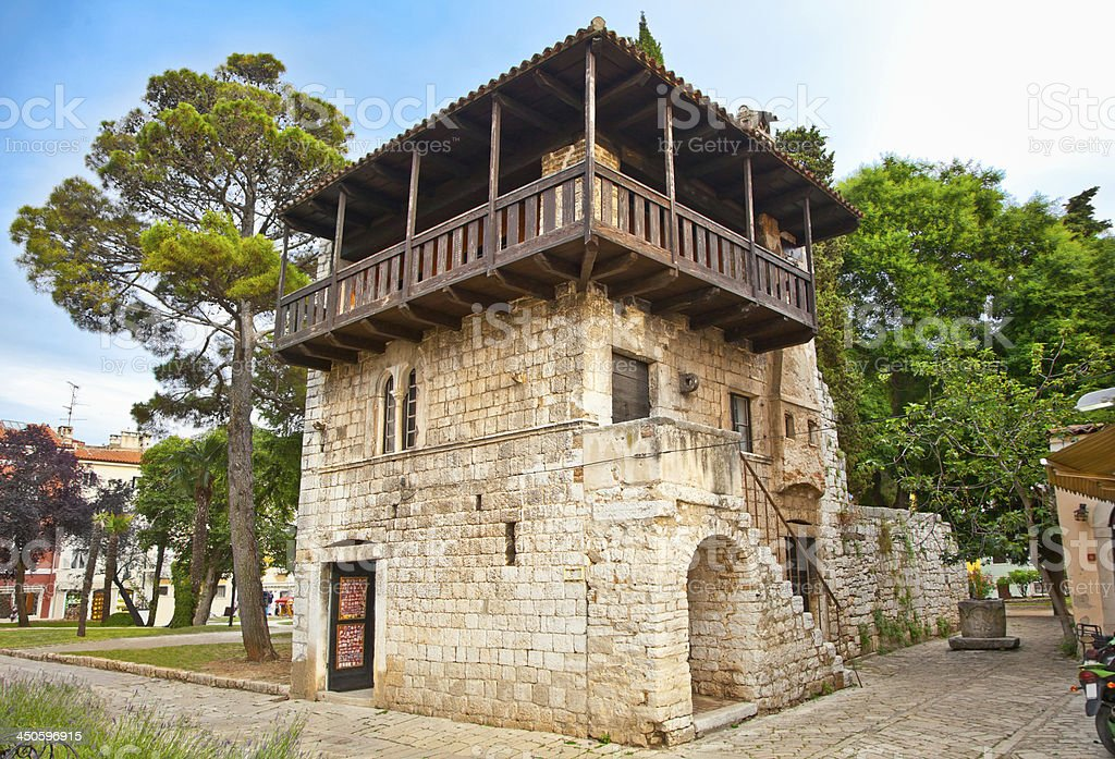 The Romanesque House in Porec,  Croatia. royalty-free stock photo