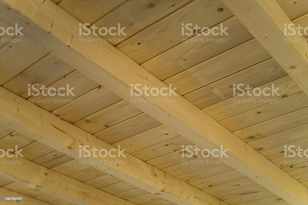the roof is wooden stock photo
