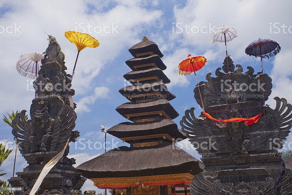 The roof of Temple Ulun Danau in Bali royalty-free stock photo