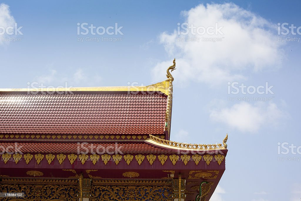The roof of Thailand stock photo