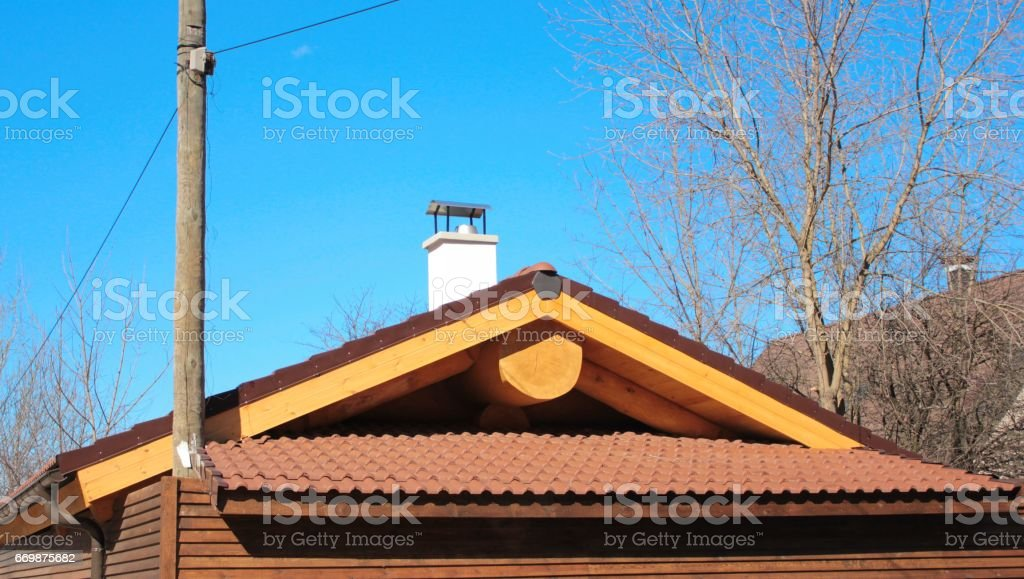 The roof of the baths stock photo