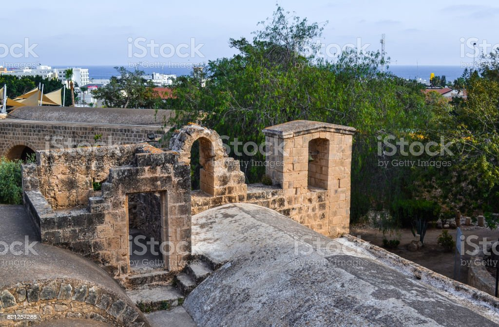 The roof of the monastery of Ayia Napa. Cyprus stock photo