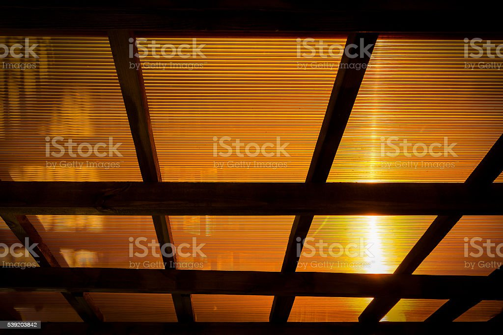 The roof of the veranda of polycarbonate stock photo