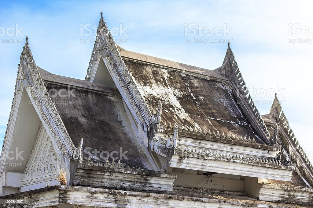 The roof  Thai's temple royalty-free stock photo