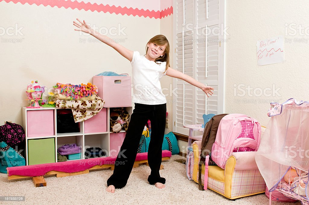 The room is clean! stock photo
