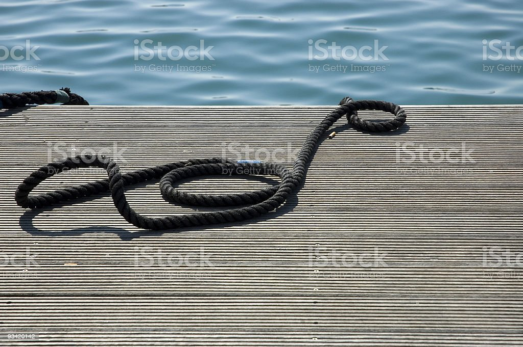 the rope royalty-free stock photo