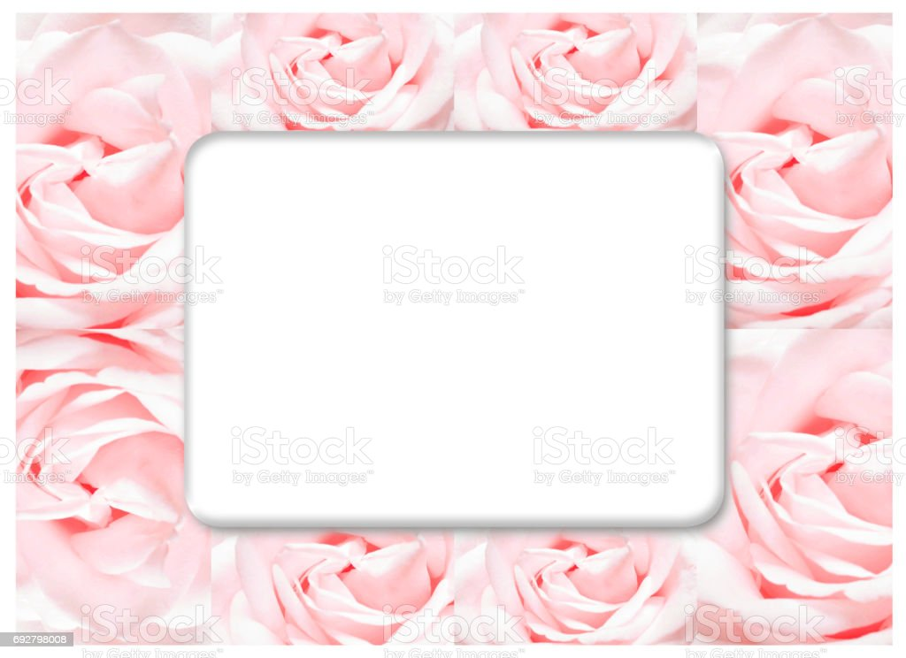 The Rose Frame Blooming Flowers Vintage Background Pastel And Soft Card Royalty Free
