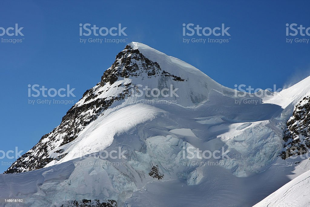The Rottalhorn (3969 m) is a mountain in the Bernese royalty-free stock photo