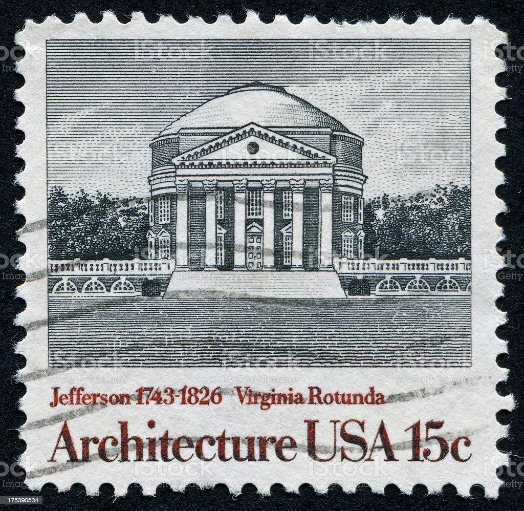 The Rotunda In Charlottesville, Virginia stock photo