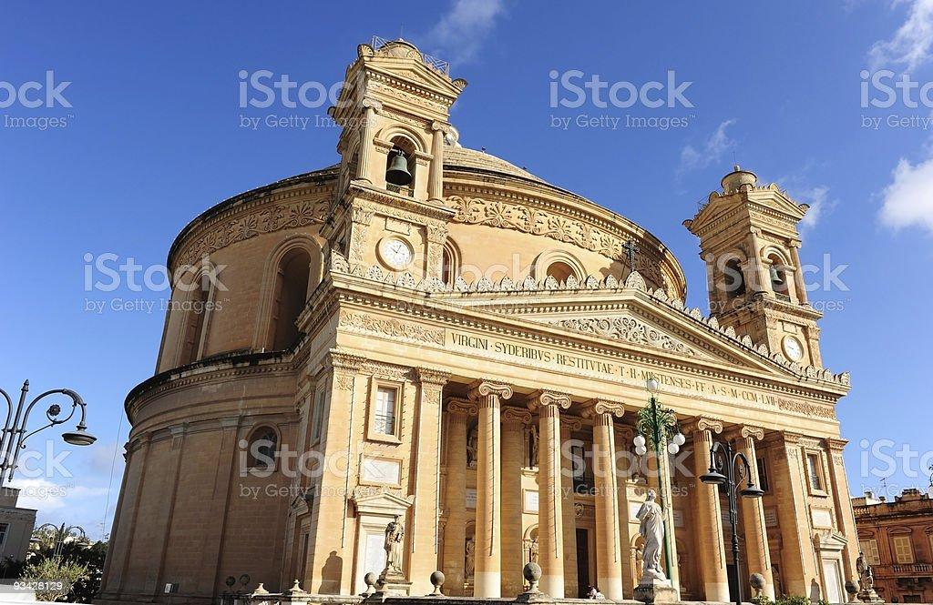 The Rotunda of St Marija Assunta, Mosta royalty-free stock photo