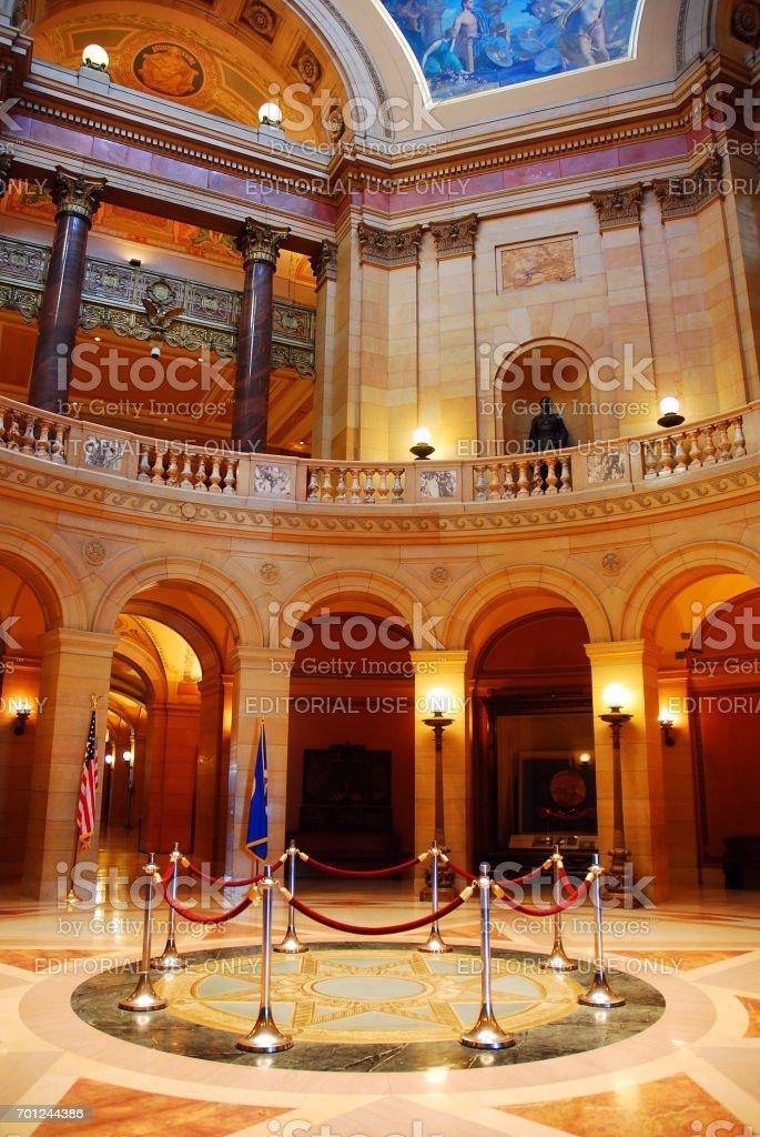 The Rotunda of the Minnesota State Capitol, St Paul stock photo