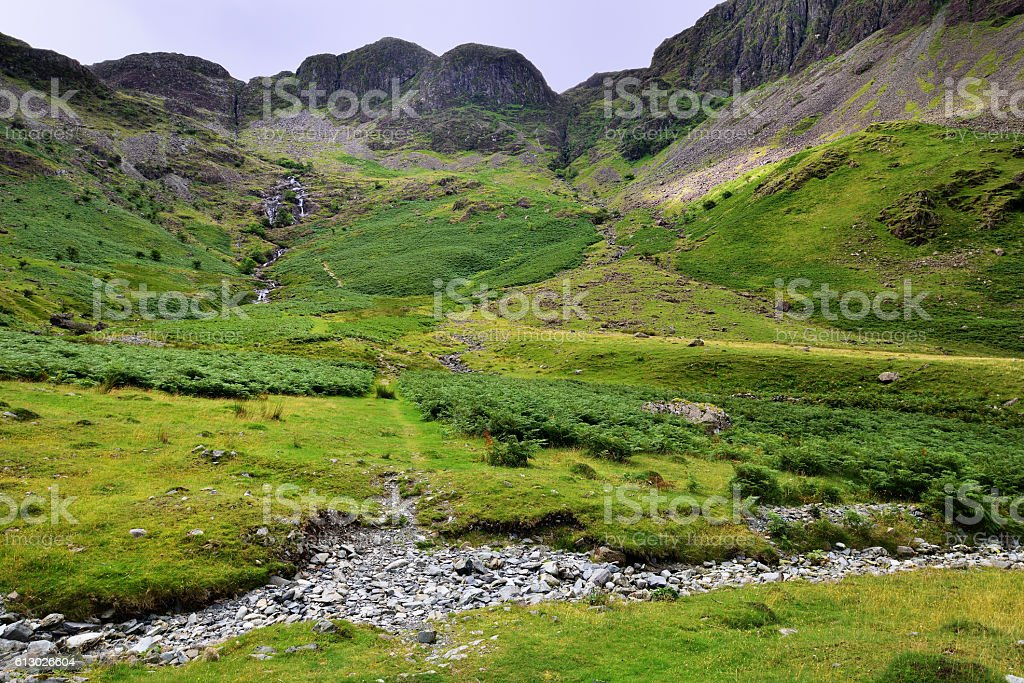 The route to Haystacks stock photo