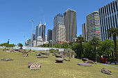 The Royal Botanic Garden with Sydney CBD Australia