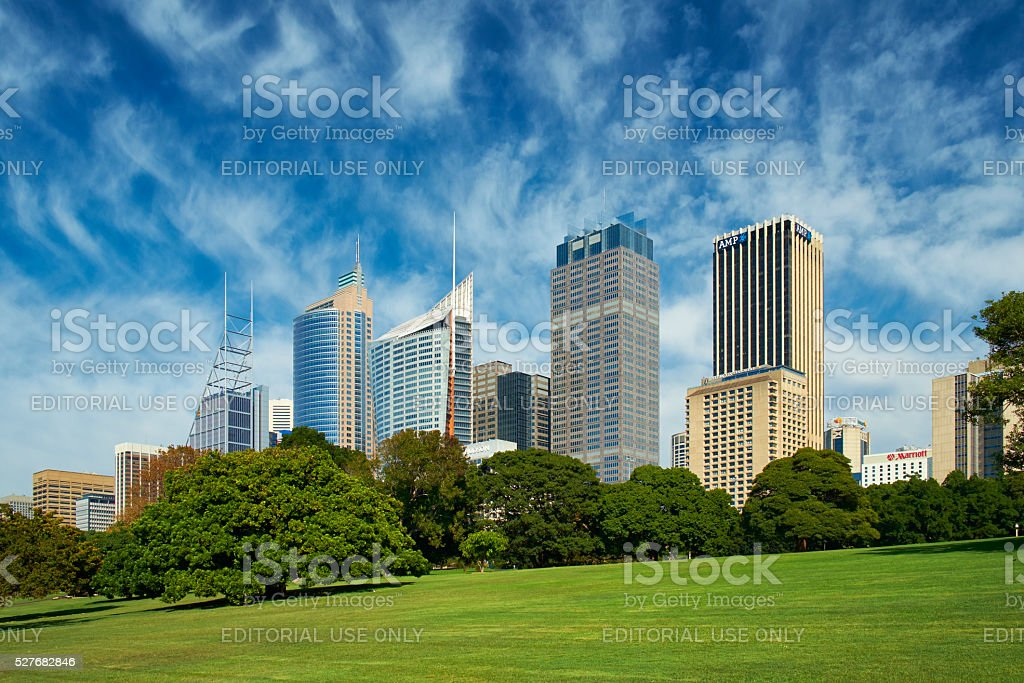 The Royal Botanic Gardens Of Sydney stock photo