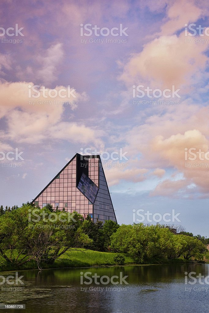 The Royal Canadian Mint at Sunrise stock photo