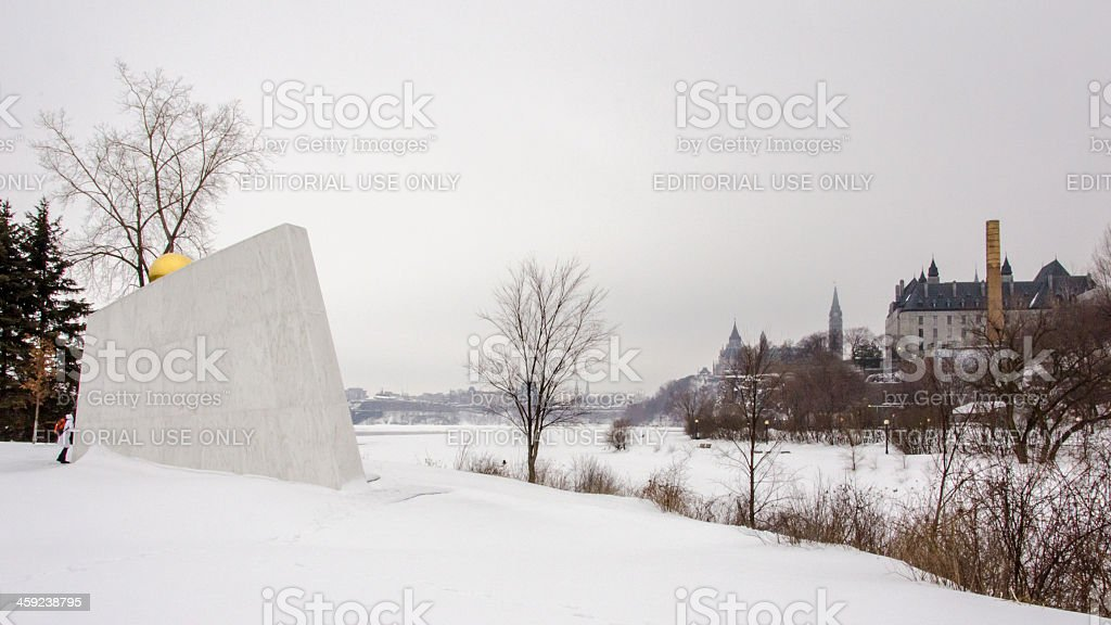 The Royal Canadian Navy Monument on Richmond Landing stock photo
