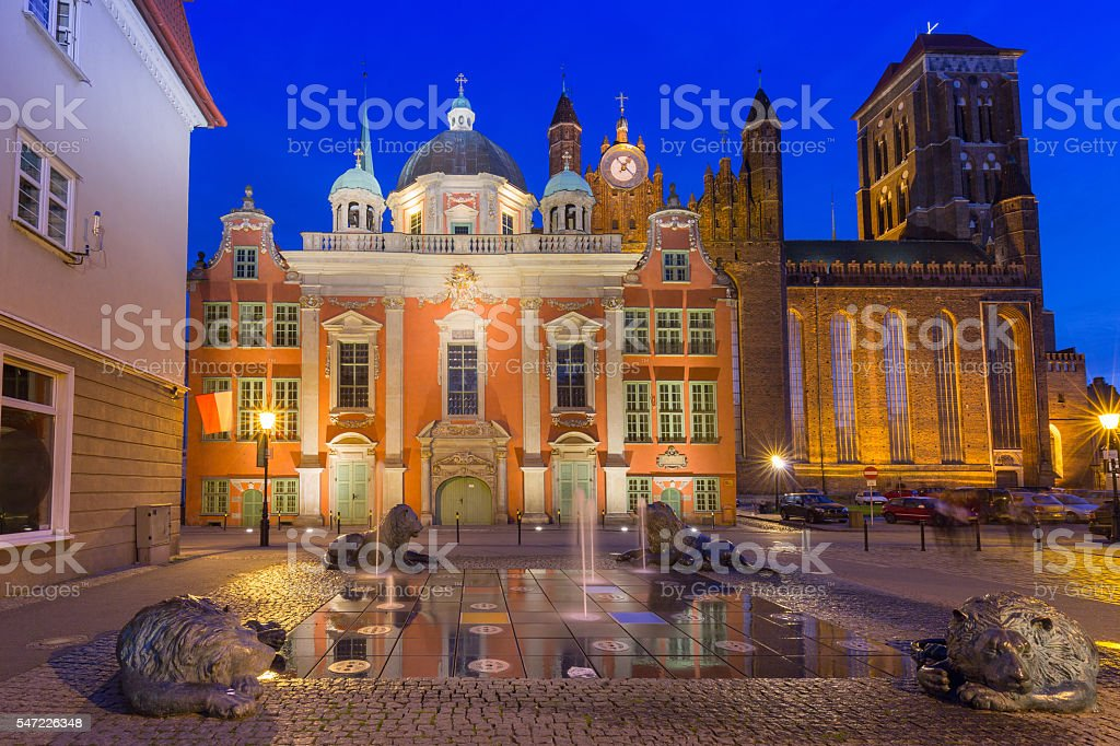 The Royal Chapel of St. Mary's Basilica in Gdansk stock photo