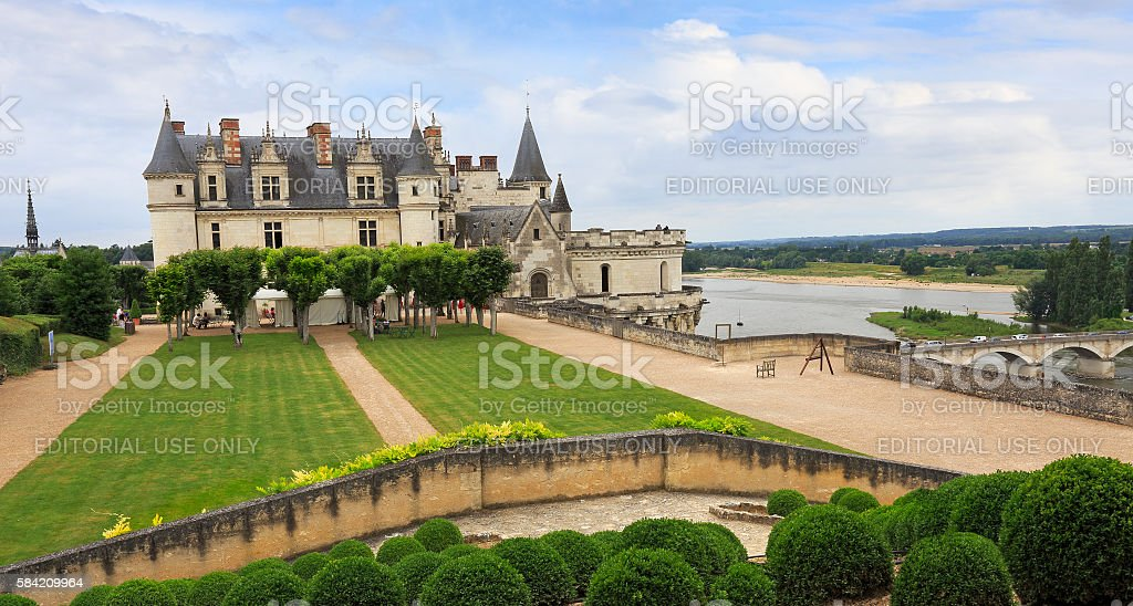 The Royal Chateau at Amboise, France stock photo