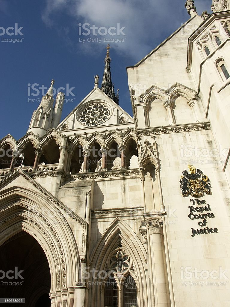 The Royal Court of Justice in London stock photo
